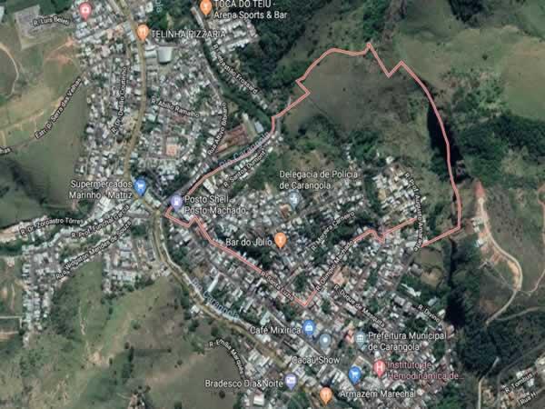 ITEM Nº: 054; CARANGOLA; Terreno, 1596,76m2 de área do terreno.     RUA A QD A LT 43, REG