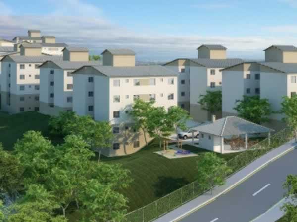 ITEM Nº: 034; BETIM; Apartamento, 45,15 m2 de área privativa, 2 qts, a.serv, WC, sl, cozi
