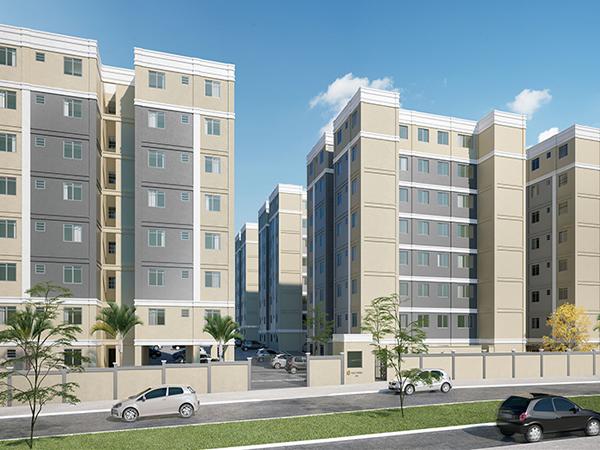 ITEM Nº: 239; SANTA LUZIA; Apartamento, 47,4 m2 de área privativa, 2 qts, a.serv, WC, sl,...