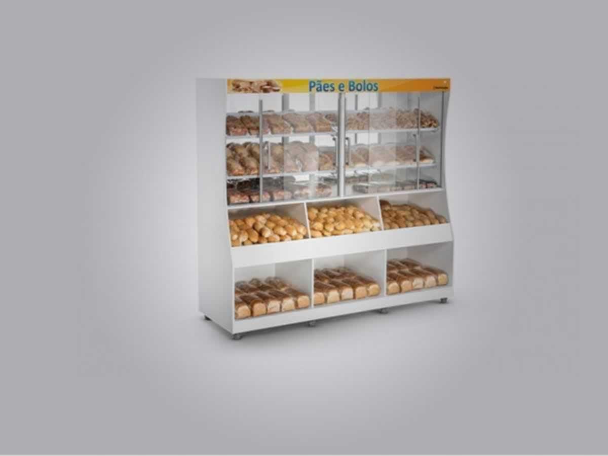 Santos Dumont - Balcão para pães e derivados Com cerca de 2,5 m de comprimento x 2,00 m de