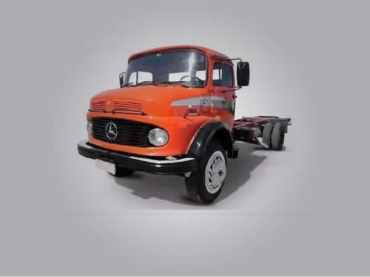 Franciscópolis - Caminhão L 1513 Mercedes Benz, ANO: 1985/1985, COR: Amarelo, PLACA 0593, ...