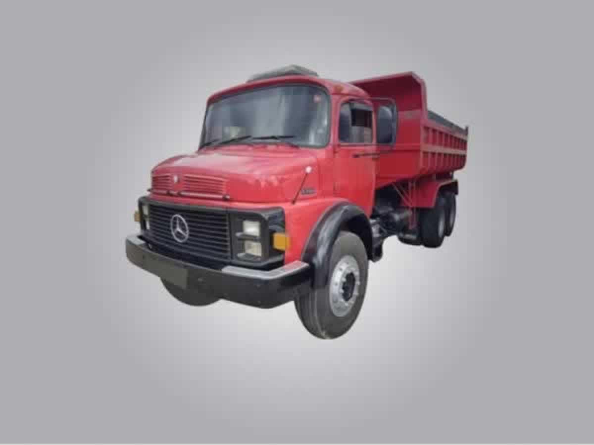 Pirapora - Caminhão caçamba amarelo L1318 Mercedes Benz, ANO: 1987/1987,  COR: Amarela, PL