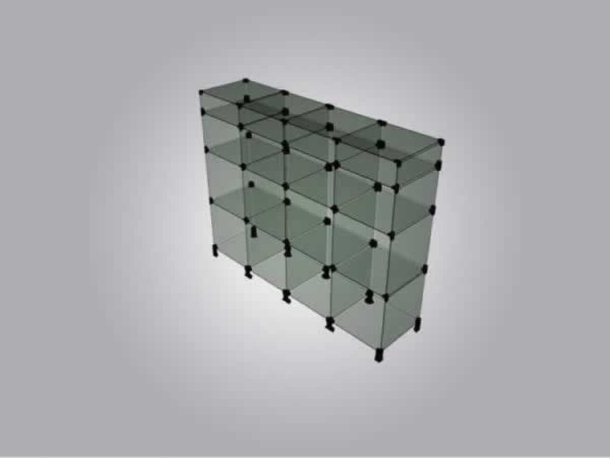 Lambari - Balcão em vidro temperado com sete divisórias  Com as seguintes medidas: Largur...