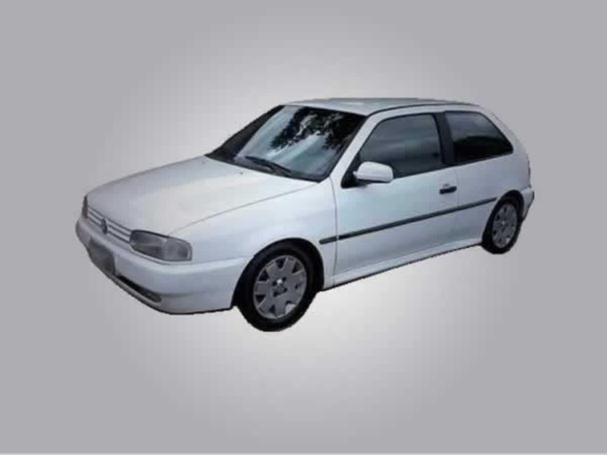 Três Pontas - Gol CL 1.6 MI VW, ANO: 1997/1997,  COR: Branca, PLACA 4811, CHASSI 287 Valor