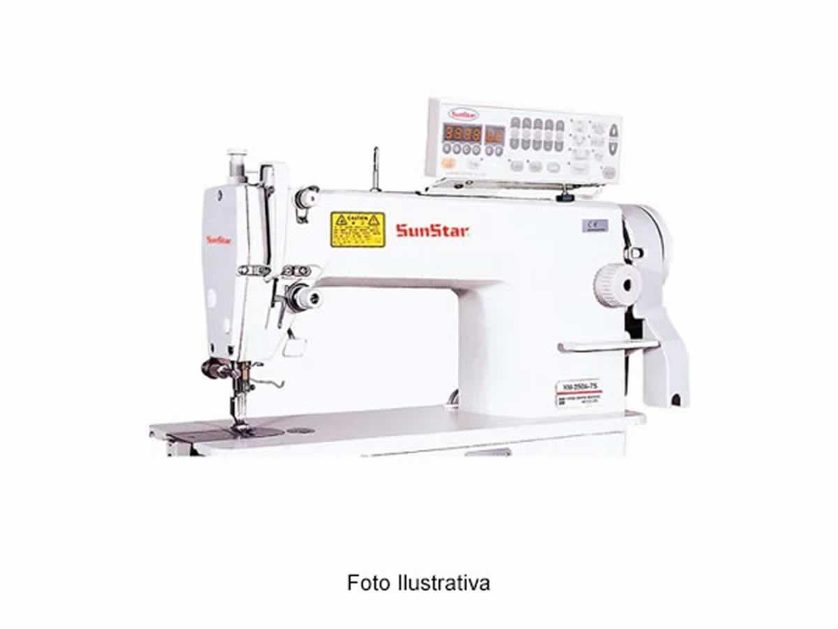 Boa Esperança - Máquina de costura eletrônica KM250B-75 SUNSTAR Com motor e gabinete, em b...