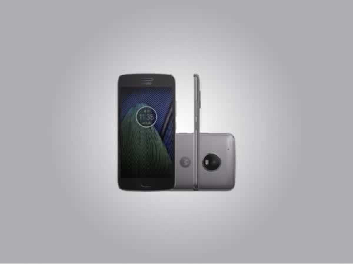 Luz - Aparelho celular Moto G5 Motorola cor cinza, dual chip, com carregador e em bom esta