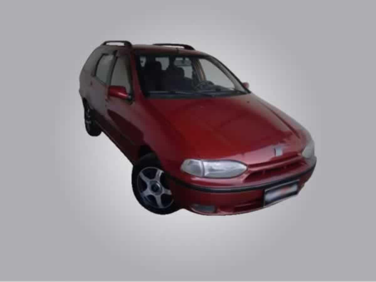 Pará de Minas - Palio Weekend Stile FIAT, ANO: 1998/1998,  COR: Vermelha, PLACA 6815, CHAS...