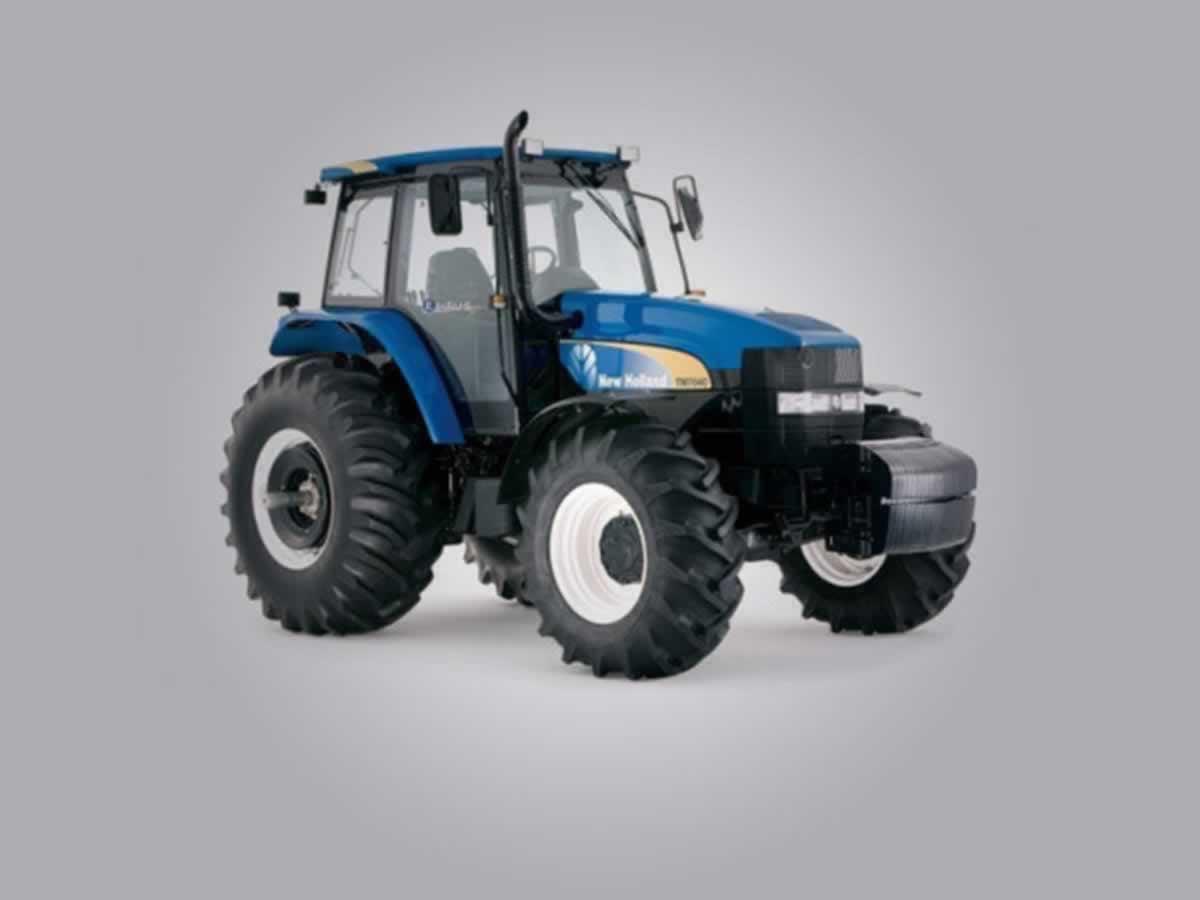Buritizeiro - Trator agrícola TM 7040 New Holand Chassi HCCZ7040JDCC15232, cor azul, em pe...