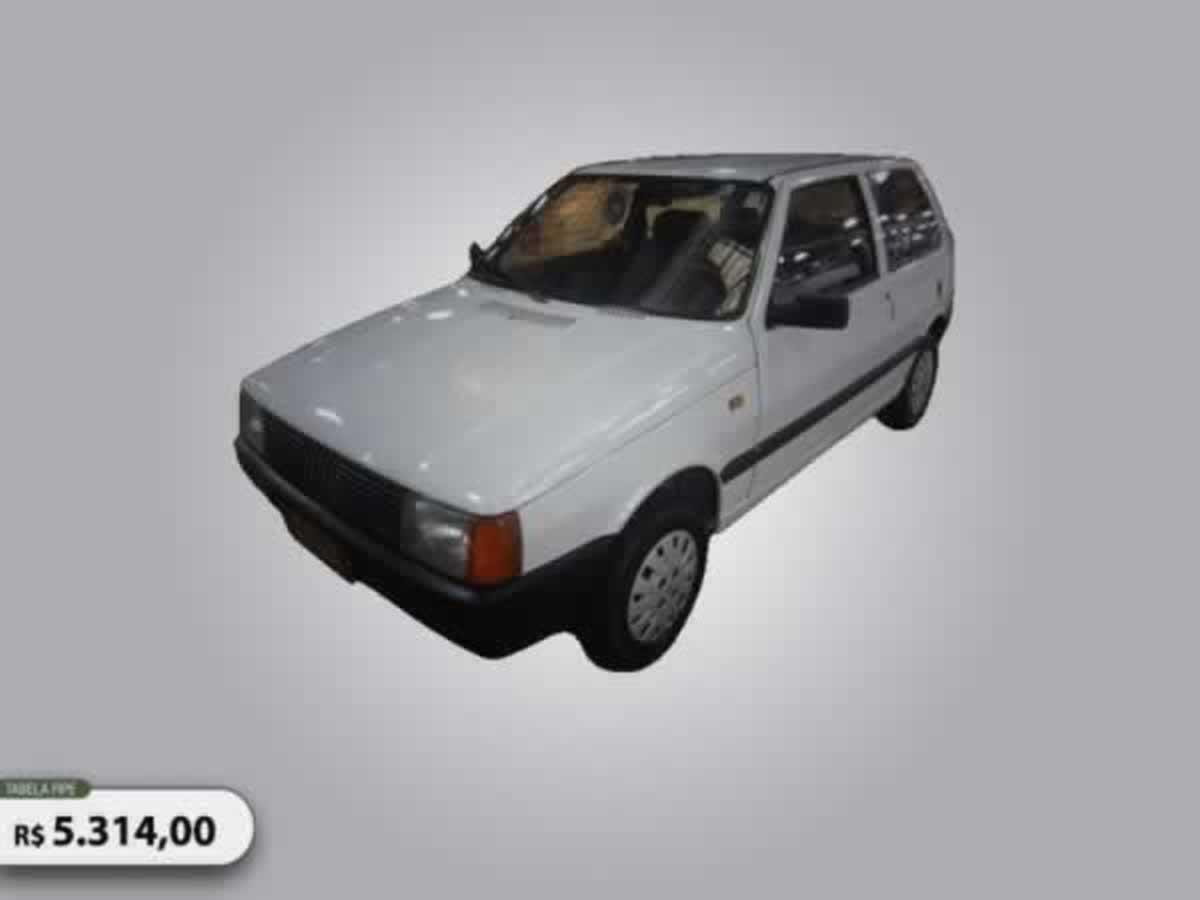 Luz - Uno CS 1.5 FIAT, ANO: 1991/1991,  COR: Cinza, PLACA 0068, CHASSI 142 Valor de multas
