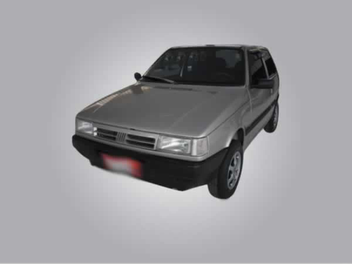 Pedro Leopoldo - Veículo Uno Mille IE FIAT, ANO: 1995/1996, COR: Cinza, PLACA 7545, CHASSI