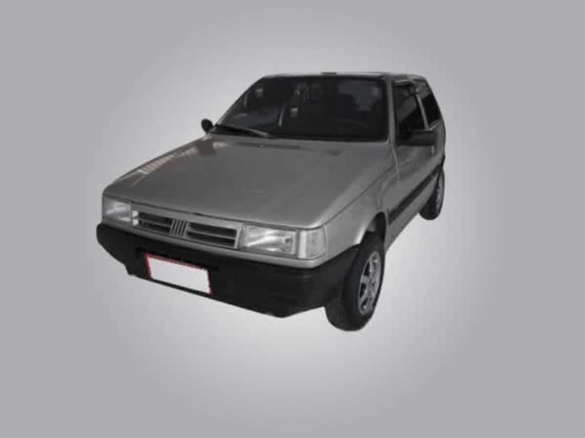 Manga - Automóvel Uno Mille EX FIAT, ANO: 1998/1998,  COR: Vermelha, PLACA 8133, CHASSI 62...