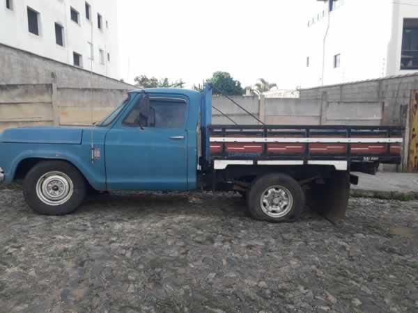 Itaúna - Caminhonete GM D-10 Chevrolet, ANO: 1979/1979,  COR: Azul, PLACA 6569, CHASSI 960