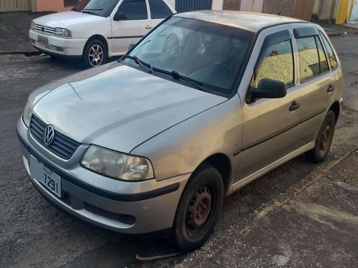 Pouso Alegre - Veículo Gol 16V Plus VW, ANO: 2000/2001, COR: Cinza, PLACA 7291, CHASSI 434