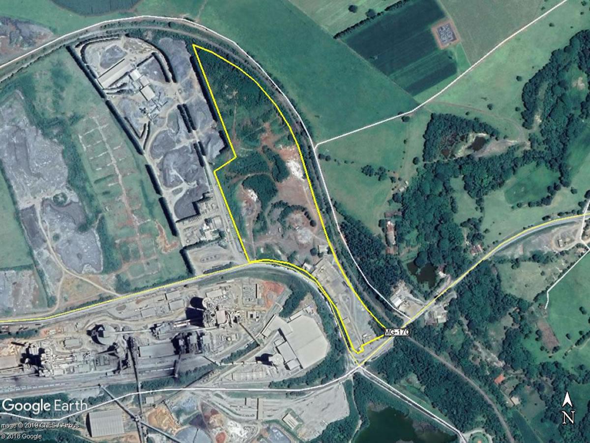 Arcos - Industria para Calcinação com área de 10,23,68ha,  MG-170, km 4,4, Fazenda Cupins