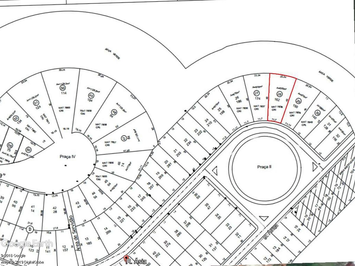 ITEM Nº: 01; Lote de terreno nº. 28 (vinte e oito), da quadra D, 670,00 m²; Bai