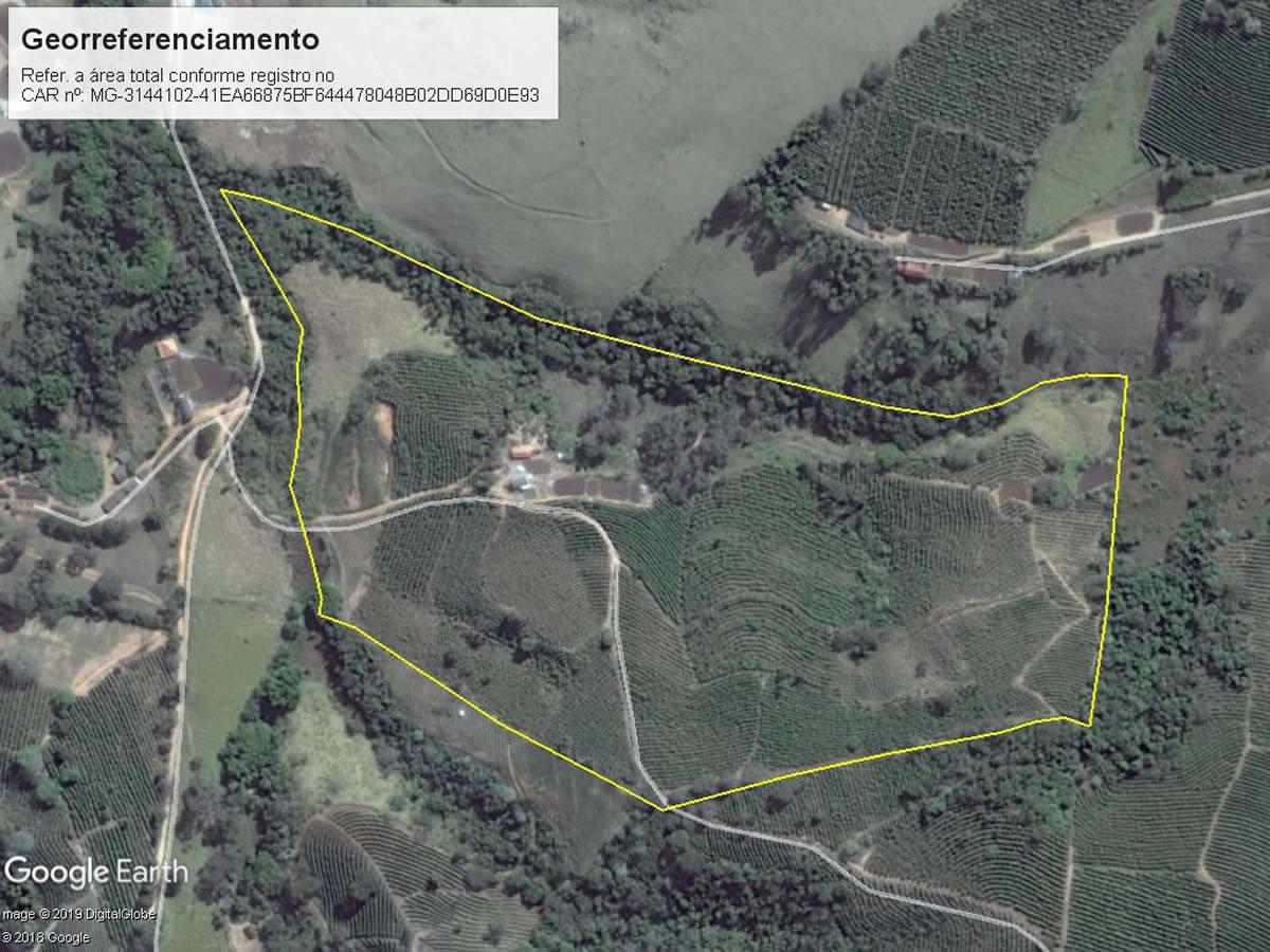 Muzambinho - Terreno rural com 00,91,98Hás, Lugar denominado Sítio Brumado, s/n, Bairro Br...