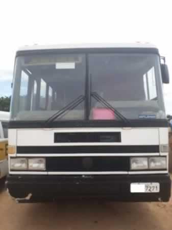 ITEM Nº: 07; Ônibus; M. Benz OF 1318, ANO: 1989/1989, PLACA: 7271, CHASSI: 199, COR: bran...