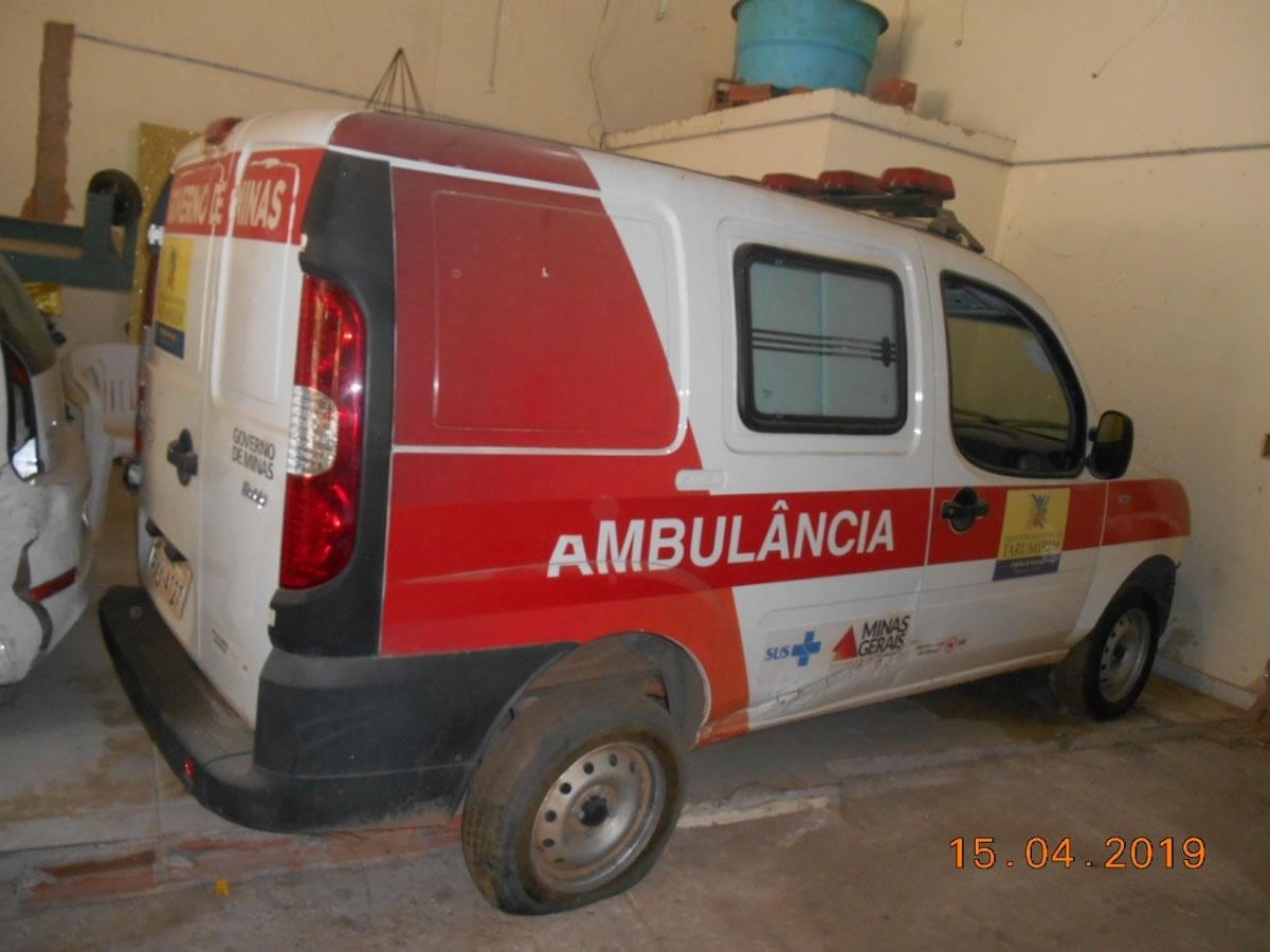 ITEM Nº: 01; Ambulância; Fiat Doblô Rontan Amb2, ANO: 2016/2016, PLACA: 4727, CHASSI: 393